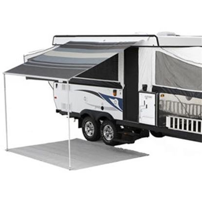 """Picture of Carefree Campout Teal Vinyl 11' 6""""L X 8' 2""""Ext Adj Pitch Manual Bag Awning 981388C00 00-1016"""