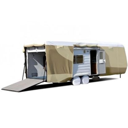 """Picture of ADCO Tyvek (R) Plus Gray Polypropylene Cover For 30' 1""""-33' 6"""" Toy Haulers 34875 01-0149"""