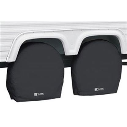 """Picture of Classic Accessories  1-Pack Black 29"""" to 31-3/4"""" Diam Single Tire Cover 80-238-160402-00 01-7310"""