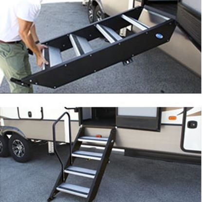 """Picture of MOR/ryde StepAbove (TM) 32"""" W x 39""""-42"""" H Quad Manual Entry Step STP-4-32-04H 04-0363"""