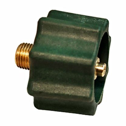 "Picture of Marshall Excelsior  1-5/16""Female ACME x 1/4""MNPT LP Hose Connector w/ Shut Off ME518 06-0233"