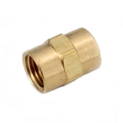 """Picture of Anderson Metal LF 7103 Series 3/8"""" FPT Brass Fresh Water Straight Fitting 706103-06 06-9201"""