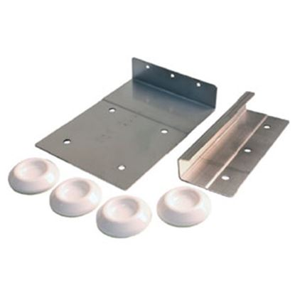 Picture of JR Products  Stainless Steel Clothes Washer Bracket w/ Mounting Screws 06-11845 07-0244