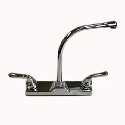 Picture of Utopia  Chrome w/2 Teapot Handle Hi-Rise Kitchen Faucet 20380R340A 10-0335