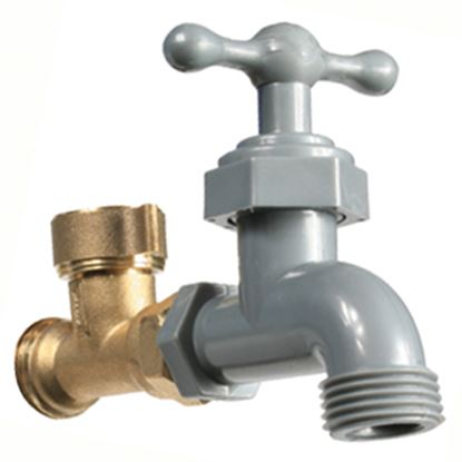 Picture of Camco  Brass Diverter Fresh Water Hose Connector For Std GHF Coupling 22475 10-0580