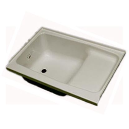 """Picture of Specialty Recreation  Parchment 24""""x36"""" LH Drain ABS Step Bathtub ST2436PL 10-1844"""