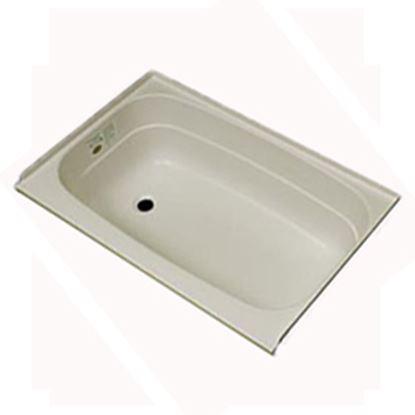 "Picture of Specialty Recreation  Parchment 24""x32"" LH Drain ABS Bathtub BT2432PL 10-1852"