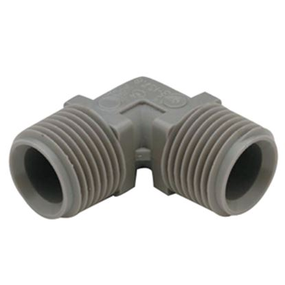 """Picture of QEST Qicktite (R) 1/2"""" Barb x 3/8"""" Barb Plastic Fresh Water Adapter Fitting  10-3053"""