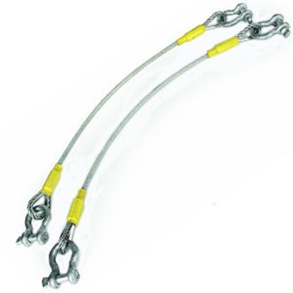 """Picture of EAZ-Lift  2-Set 68"""" Steel Snap Hook Trailer Safety Cable 48506 14-2829"""