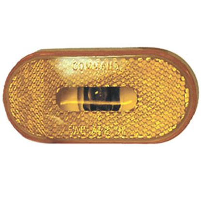 "Picture of Command  Amber 4""L x 2""W x 1-13/16""H Clearance Side Marker Light 003-53P 18-0199"