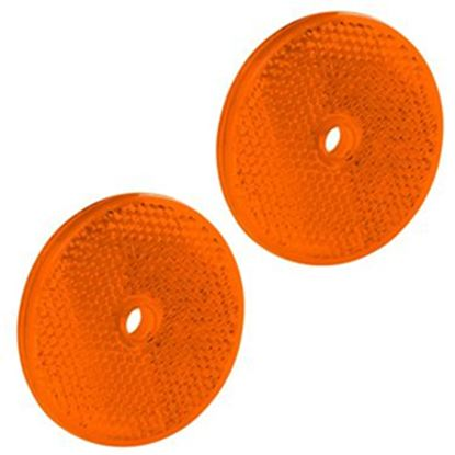 """Picture of Bargman  2-Pack 2-3/16"""" Round Amber Screw Mount Reflector 74-71-175 18-0396"""