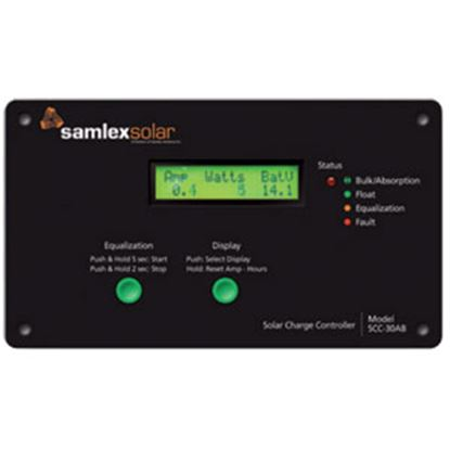 Picture of Samlex Solar  Digital 30A Battery Charger Controller for 12/24V Batteries SCC-30AB 19-6412