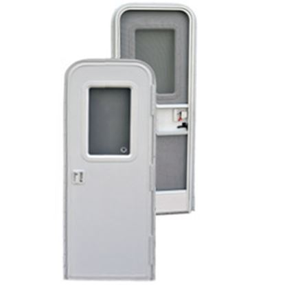 "Picture of AP Products  Polar White w/ Window Frame RH 26""W x 72""H Radius Entry Door 015-267231 20-4045"