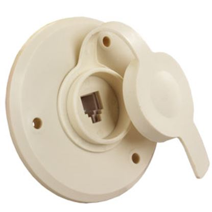 Picture of JR Products  Rubber Weatherproof Press-On TV Cable Entry Plate Cap 475PW-A 24-0352