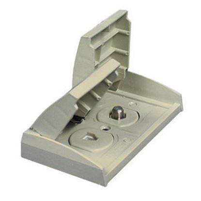 Picture of Prime Products  Colonial White Outdoor Dual Phone/ TV Receptacle w/ Cover 08-6306 24-0530