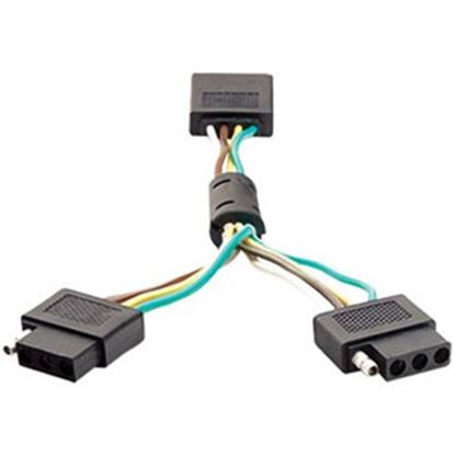 Picture of Anzo  Dual 4 Wire Flat Trailer Wiring Connector Adapter 851009 25-0849