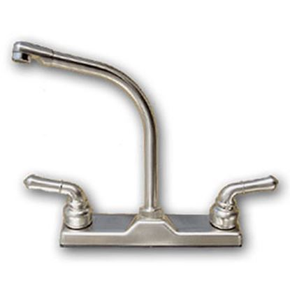 Picture of Utopia  Nickel w/2 Teapot Handle Hi-Rise Kitchen Faucet 20380R340NABX 69-6003