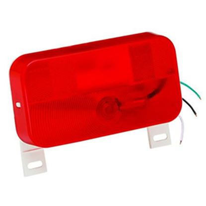 """Picture of Bargman 92 Series Red 8-9/16""""x4-9/16""""x2-1/8"""" Stop/ Tail/ Turn Light 30-92-003 69-8413"""