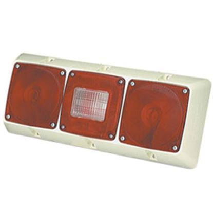 """Picture of Grote  Red/White 14-13/16""""x5-7/8"""" Stop/ Turn/ Tail Light 51342-5 69-9068"""