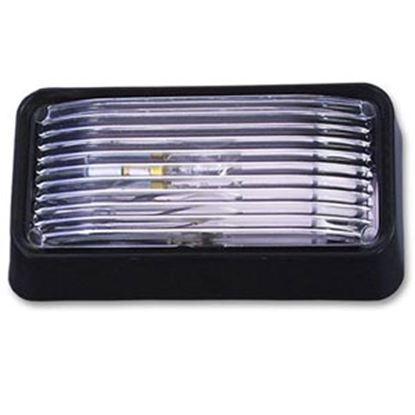 Picture of Bargman 78 Series Black w/Clear Lens Rectangular Porch Light w/o Switch 30-78-522 94-5102